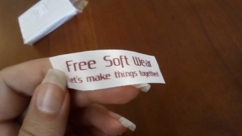 Free Soft Wear tag